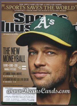 2011 Sports Illustrated - With Label   September 26  -  Brad Pitt / The New Moneyball