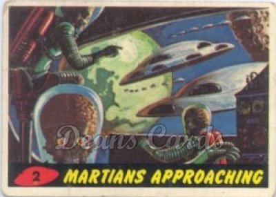 # 2 Martians Approaching - 1962 Mars Attacks REPRINT