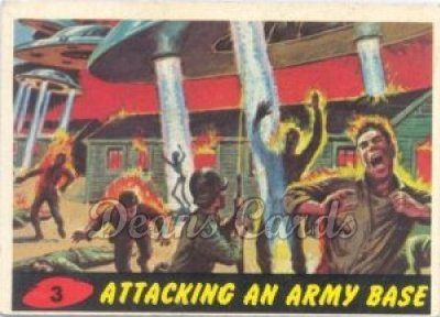 # 3 Attacking an Army Base - 1962 Mars Attacks REPRINT