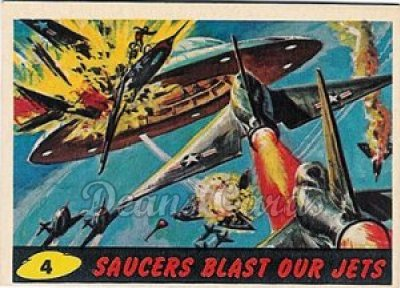 # 4 Saucers Blast Our Jets - 1962 Mars Attacks REPRINT