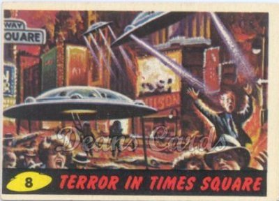 # 8 Terror in Times Square - 1962 Mars Attacks REPRINT