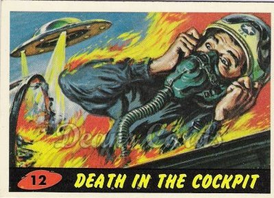 # 12 Death in the Cockpit - 1962 Mars Attacks REPRINT