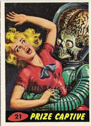 # 21 Prize Captive - 1962 Mars Attacks REPRINT