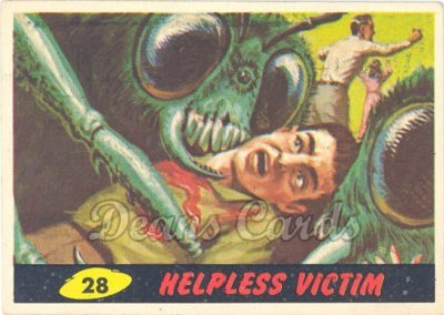 # 28 Helpless Victim - 1962 Mars Attacks REPRINT