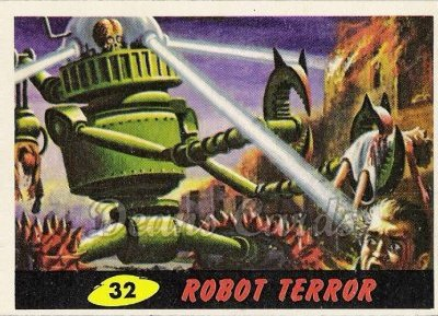 # 32 Robot Terror - 1962 Mars Attacks REPRINT