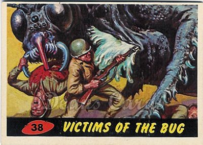 # 38 Victims of the Bug - 1962 Mars Attacks REPRINT