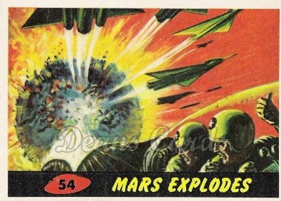 # 54 Mars Explodes - 1962 Mars Attacks REPRINT
