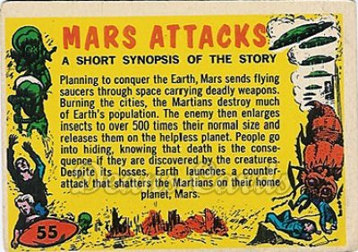 # 55 Checklist - 1962 Mars Attacks REPRINT