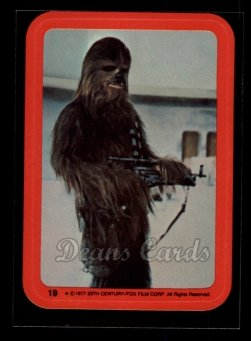 1977 Topps Star Wars Stickers #19   The Wookiee Chewbacca