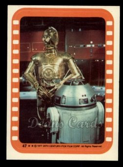 1977 Topps Star Wars Stickers #47   Droids on the Run