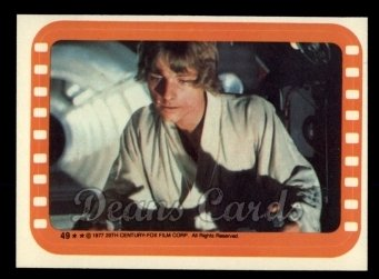 1977 Topps Star Wars Stickers #49   Luke the Star Warrior