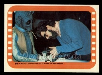 1977 Topps Star Wars Stickers #50   George Lucas and Greedo
