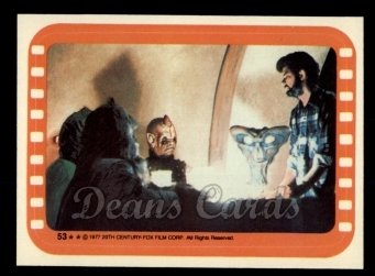 1977 Topps Star Wars Stickers #53   Directing the Cantina Creatures