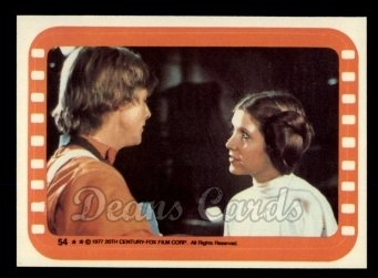 1977 Topps Star Wars Stickers #54   Leia Wishes Luke Good Luck