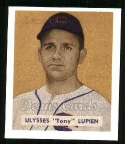 1949 Bowman REPRINT #141  Tony Lupien