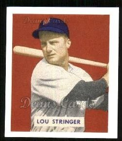 1949 Bowman REPRINT #183  Lou Stringer