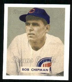1949 Bowman REPRINT #184  Bob Chipman