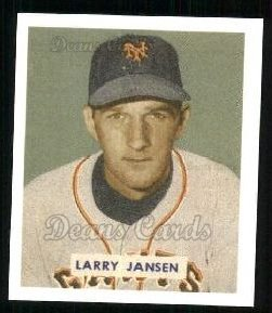 1949 Bowman REPRINT #202  Larry Jansen