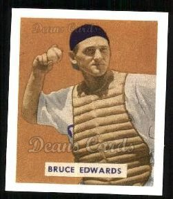 1949 Bowman REPRINT #206  Bruce Edwards