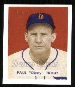 1949 Bowman REPRINT #208  Dizzy Trout