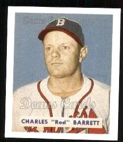 1949 Bowman REPRINT #213  Red Barrett
