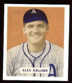 1949 Bowman REPRINT #222  Alex Kellner