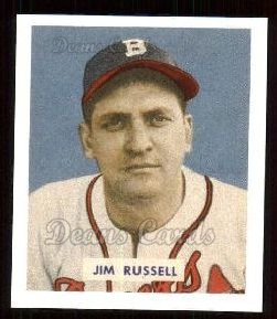 1949 Bowman REPRINT #235  Jim Russell