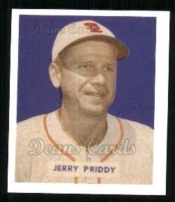 1949 Bowman REPRINT #4  Jerry Priddy