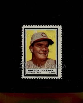 1962 Topps Stamps #113  Gordon Coleman