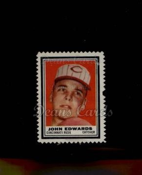 1962 Topps Stamps #114  Johnny Edwards