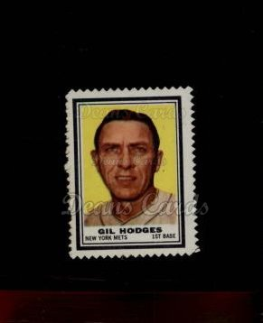 1962 Topps Stamps #155  Gil Hodges