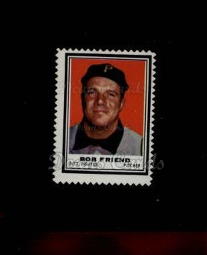 1962 Topps Stamps #176  Bob Friend
