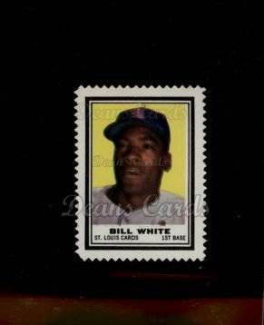 1962 Topps Stamps #191  Bill White