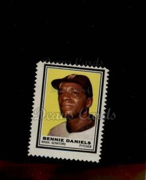 1962 Topps Stamps #95  Bennie Daniels