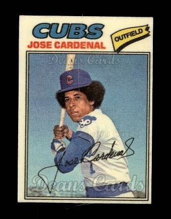 1977 Topps Cloth #9  Jose Cardenal