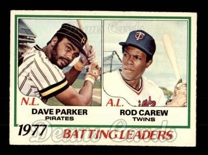 1978 O-Pee-Chee #1   -  Dave Parker / Rod Carew Batting Leaders