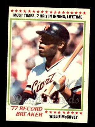 1978 O-Pee-Chee #238   -  Willie McCovey Record Breaker