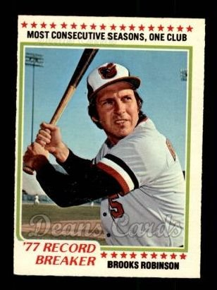 1978 O-Pee-Chee #239   -  Brooks Robinson Record Breaker
