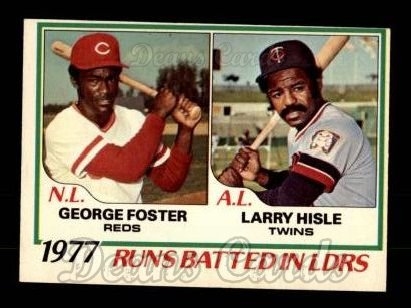 1978 O-Pee-Chee #3   -  George Foster / Larry Hisle RBI Leaders