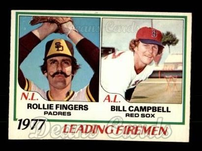 1978 O-Pee-Chee #8   -  Rollie Fingers / Bill Campbell Leading Firemen