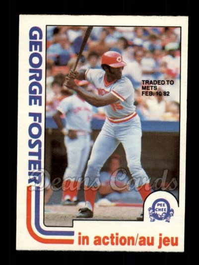 1982 O-Pee-Chee #177 TR  -  George Foster In Action