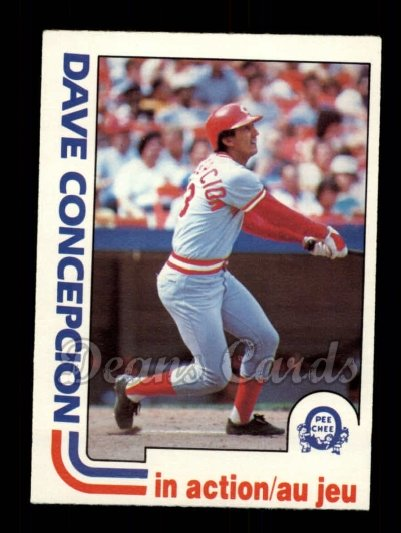 1982 O-Pee-Chee #221   -  Dave Concepcion In Action
