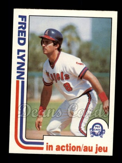 1982 O-Pee-Chee #252   -  Fred Lynn In Action