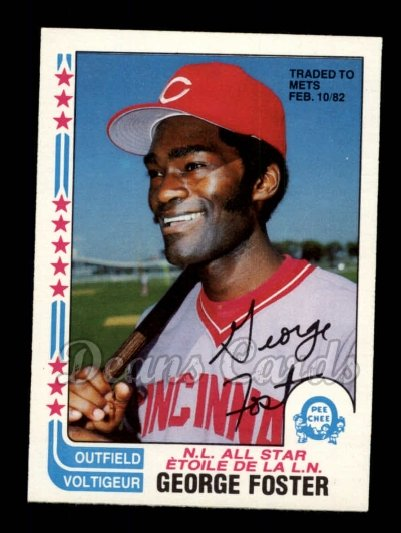 1982 O-Pee-Chee #342 TR  -  George Foster All-Star