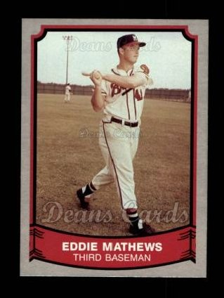 1989 Pacific Legends #116  Eddie Mathews