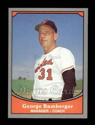 1990 Pacific Legends #11  George Bamberger