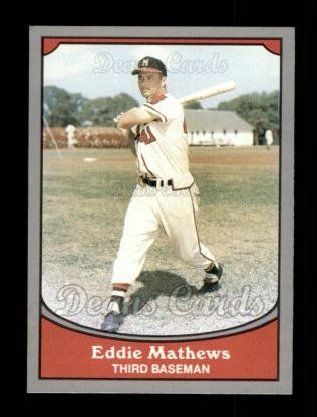 1990 Pacific Legends #66  Eddie Mathews