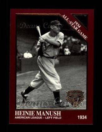 1994 Conlon Burgundy #1077   -  Heinie Manush 1934 All-Star Game