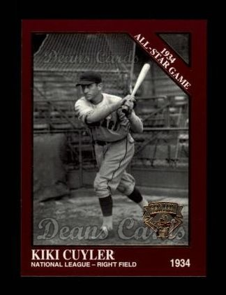 1994 Conlon Burgundy #1096   -  Kiki Cuyler 1934 All-Star Game
