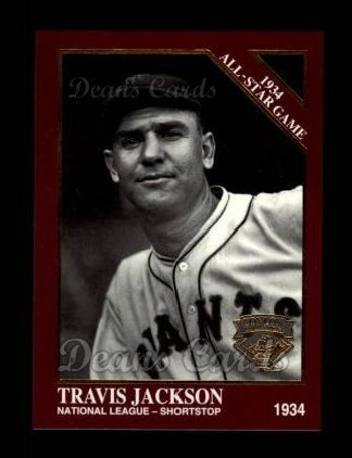 1994 Conlon Burgundy #1101   -  Travis Jackson 1934 All-Star Game